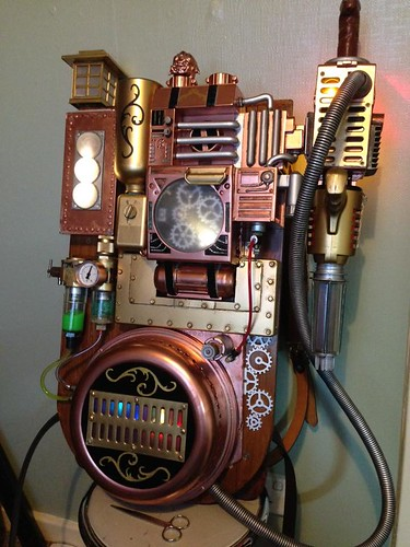 Steampunk Ghostbusters proton-pack by James Odinson Mclardy
