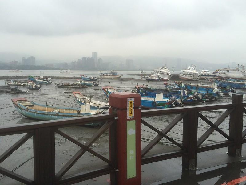 八里渡船頭からの景色