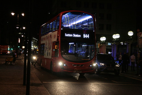 London General WVL438 on Route N44, Charing Cross