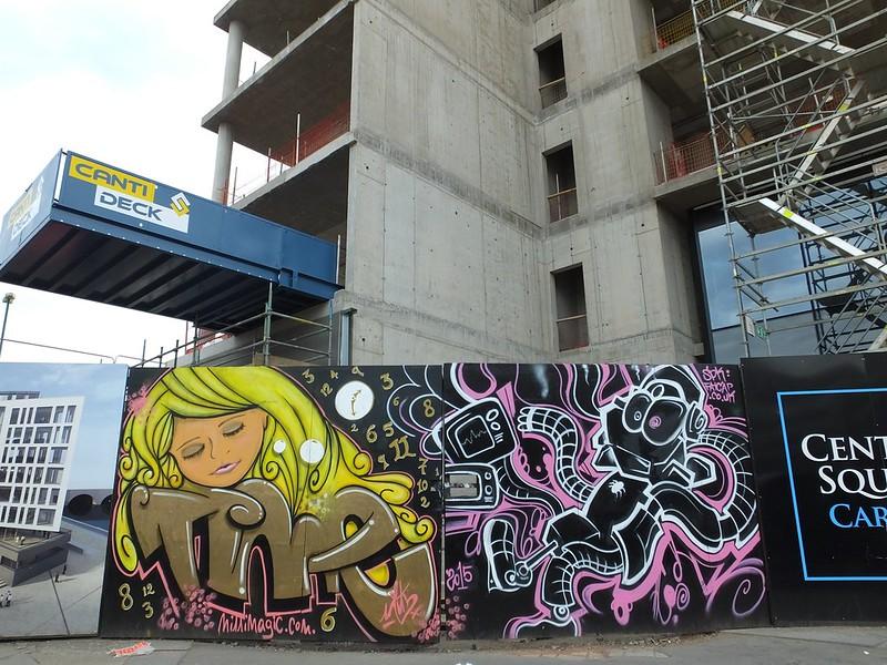 Street art near Central Square, Cardiff