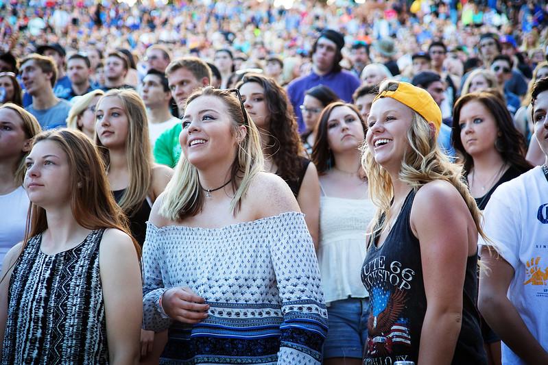 Red Rocks Concert Crowd 2015
