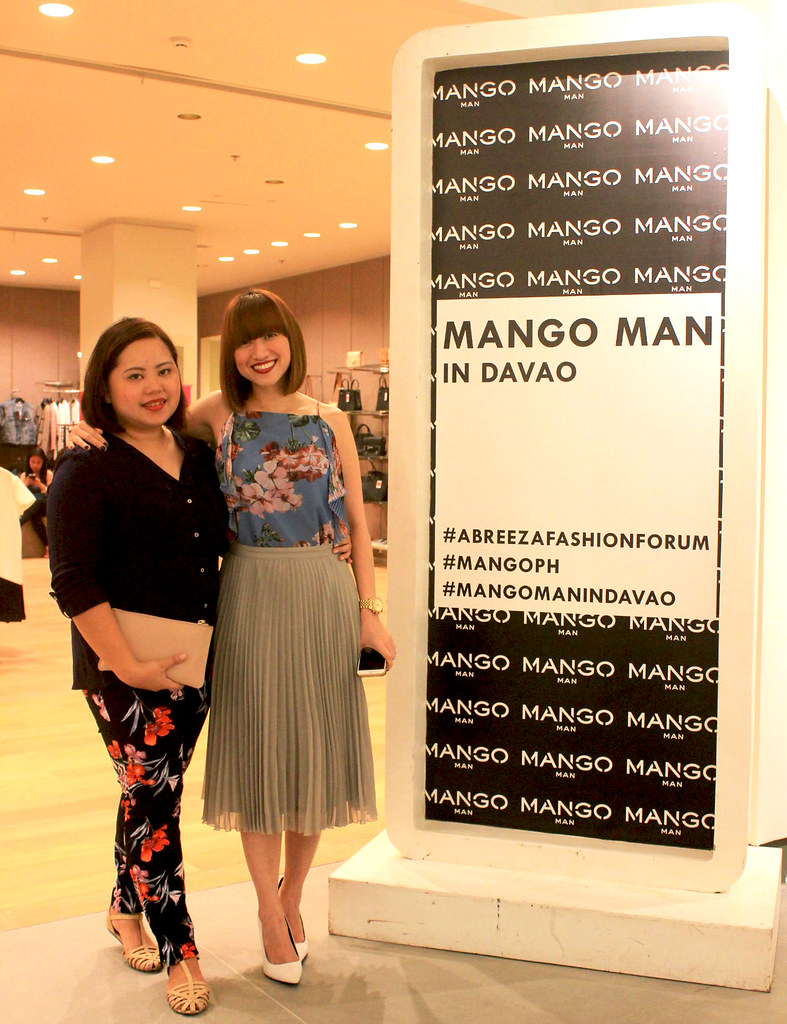 Mango Assistant Marketing Manager Cai Gualberto and Country Supervisor Kelly Santos