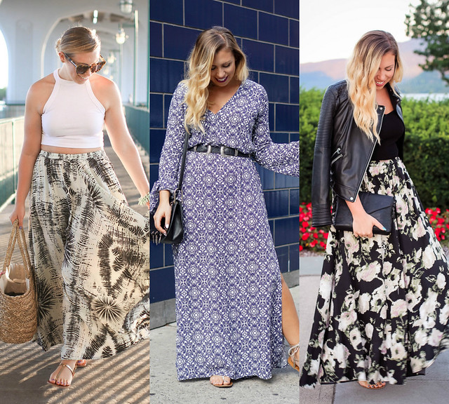 Maxi Skirts & Dresses Best of 2016