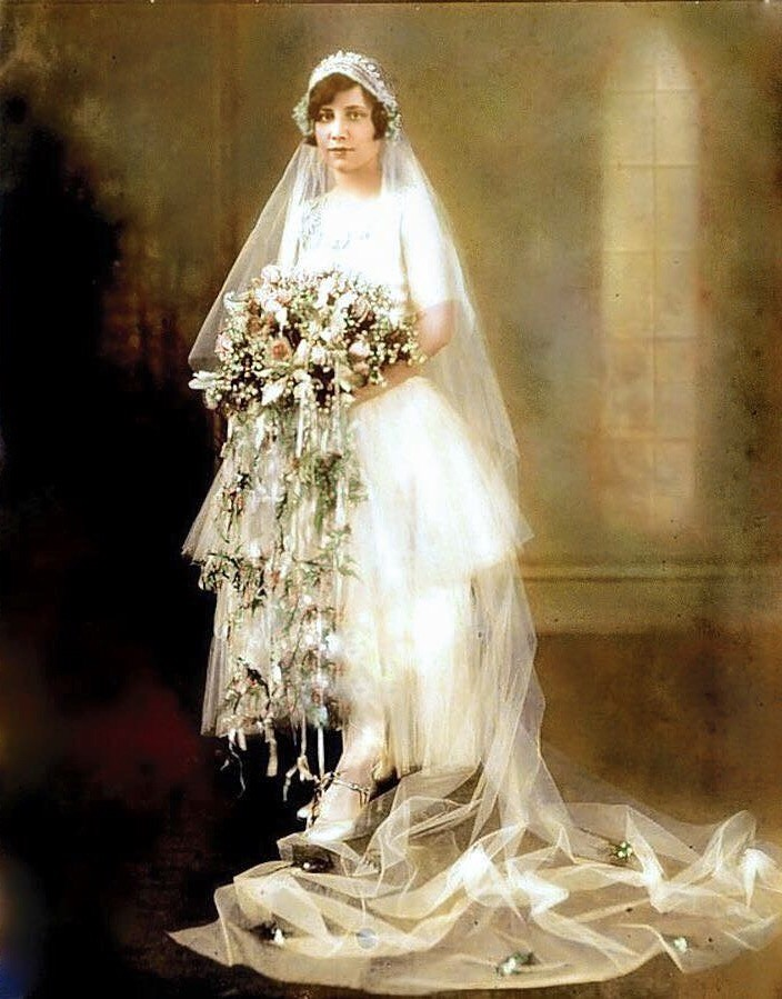 1920\'s Wedding Gown | Louise Carrington (Ward), Collierville… | Flickr