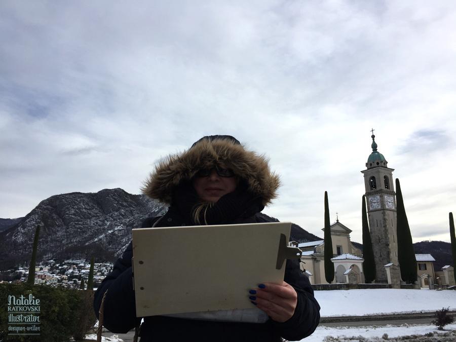 Winter plain air in Lugano