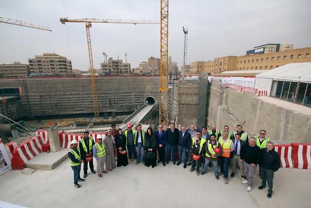 Visita ai cantieri Salini-Impregilo per la Metro Riad 22.01.2017