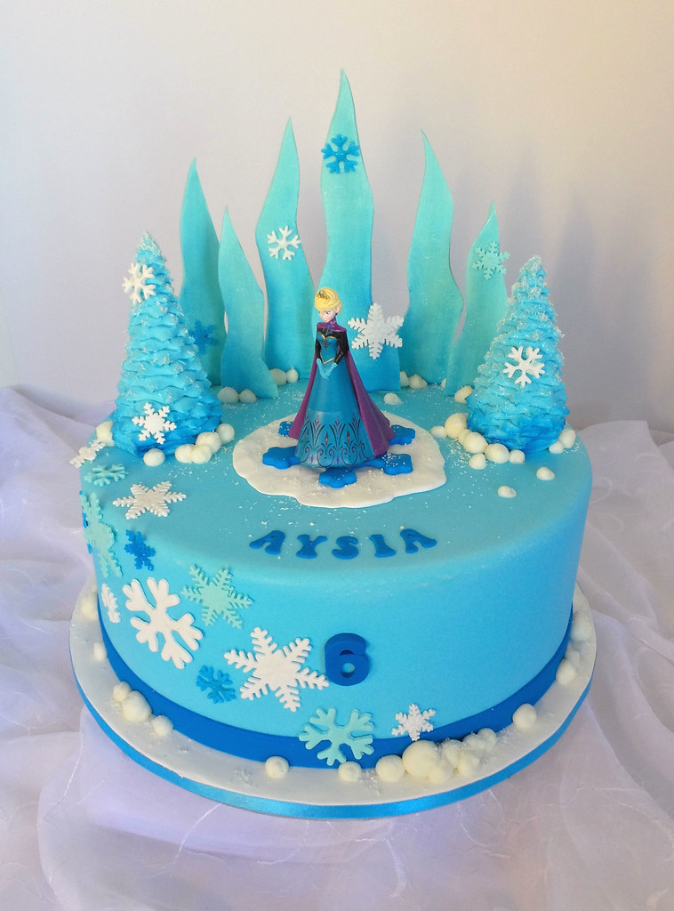 Frozen Themed Birthday Cake Design Was Brought In By Clien Flickr