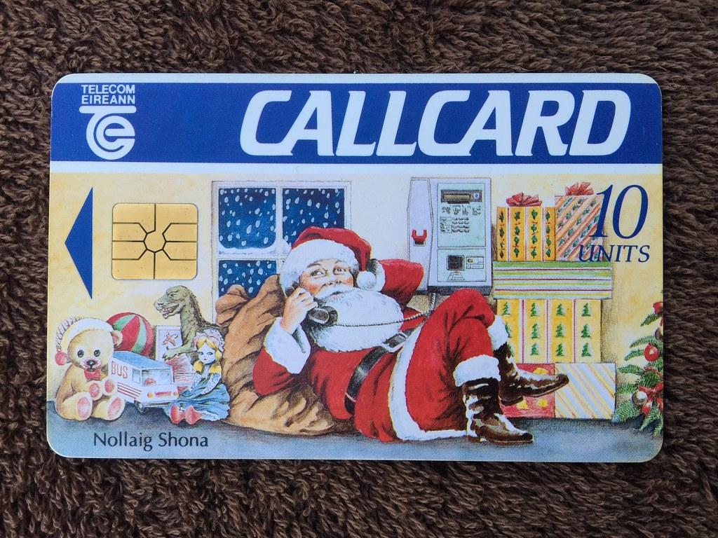 telecom eireann ireland pre pay phone call cards christmas nollaig shona - Payphone Calling Cards