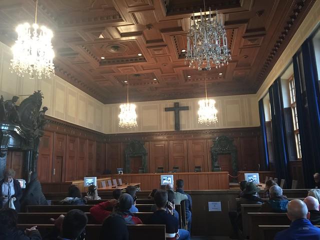 Sala 600 donde se celebraron los Juicios de Núremberg