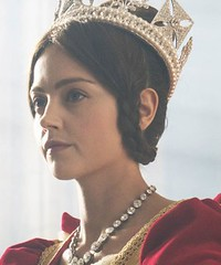 Jenna Coleman as Queen Victoria closeup