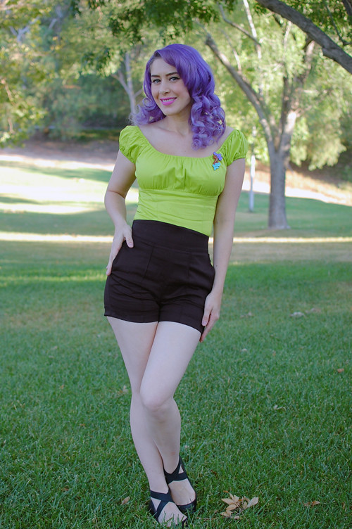 Pin Up Girl Clothing Com Impressive Pinup Girl Clothing Chartreuse Peasant Top Laura Byrnes Hi Flickr
