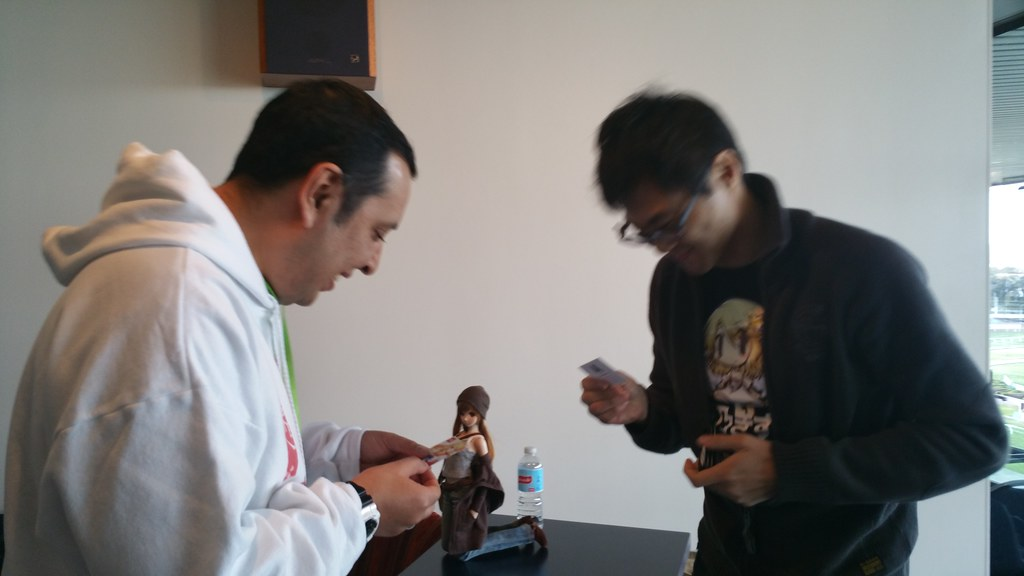 Getting ready to exchange business cards with Danny Choo :… | Flickr
