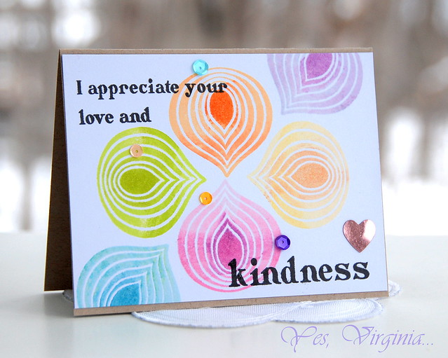 I appreciate your love and kindness