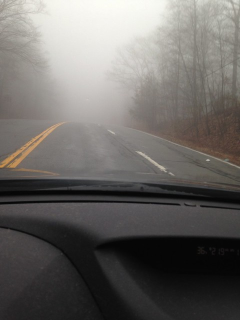 Foggy drive to Cold Spring