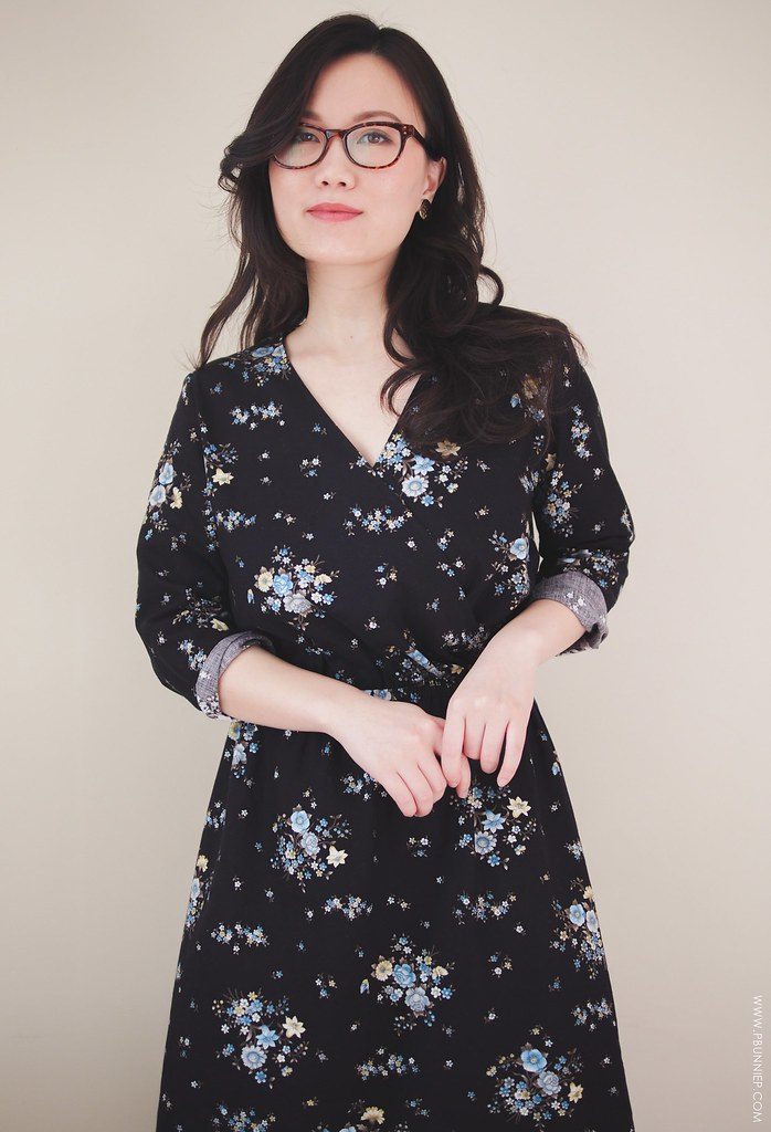 Sewing Floral Wrap Dress