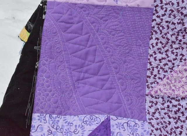 purple wild quilting