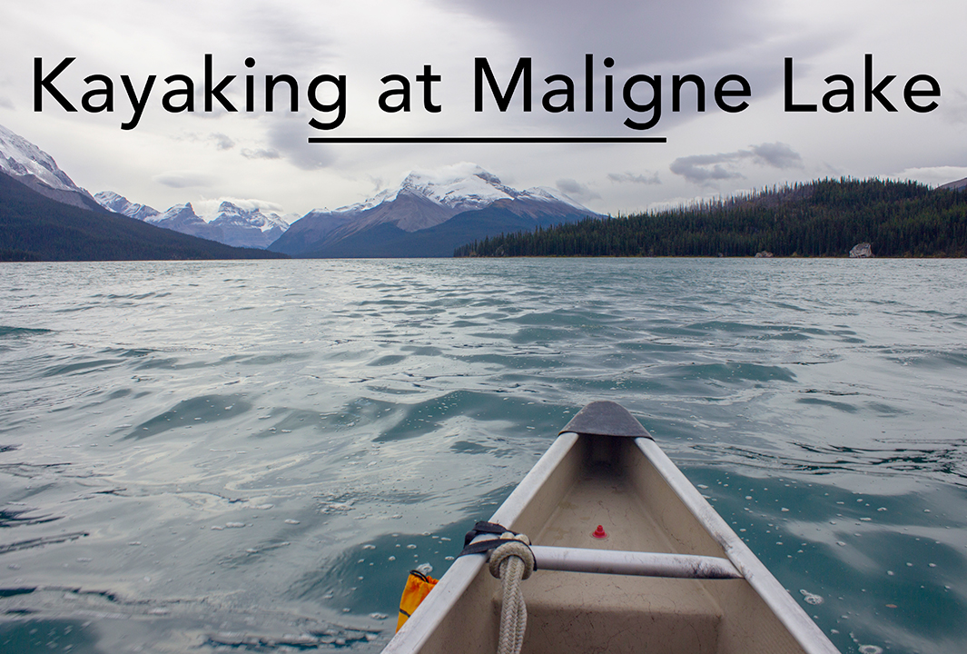 Kayaking on Maligne Lake, Jasper