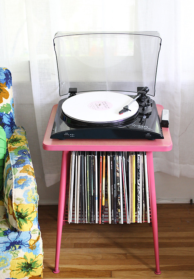 Record Table Makeover