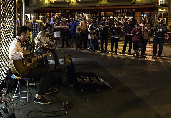 Street Musicians-Paris Evening   These musicians were very g