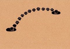 クラフト紙14_穴と穴の間の黒プレーン