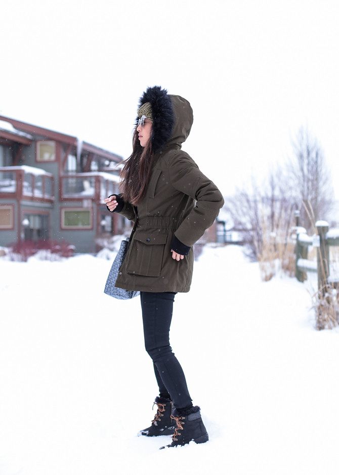 park city winter snow outfit ideas petite fashion blog