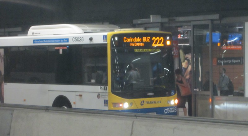 Brisbane bus way underground station