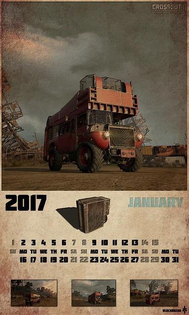 Crossout 2017 calendar vertical