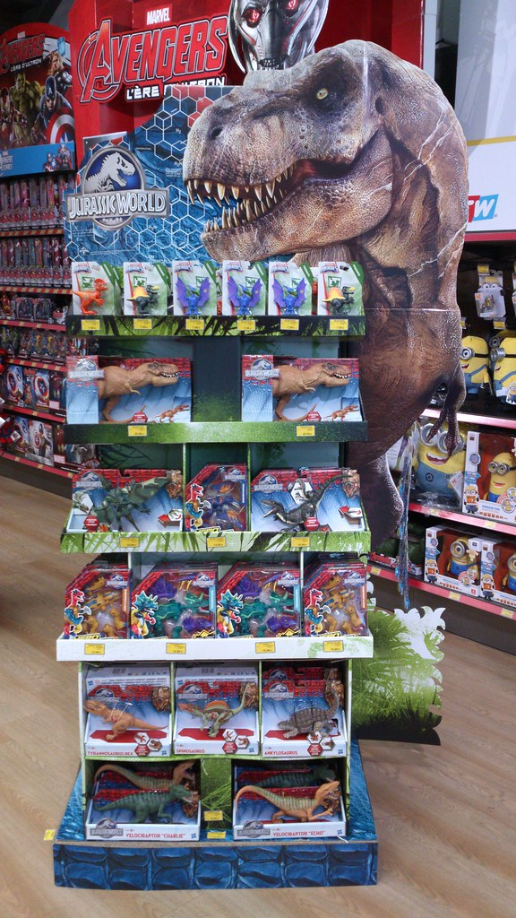 Jurassic world hasbro toys display toys r us paris may 201 flickr - Maisonnette toys r us ...