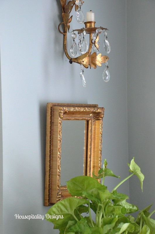 Gold and Crystal Sconce/Mirror-Housepitality Designs