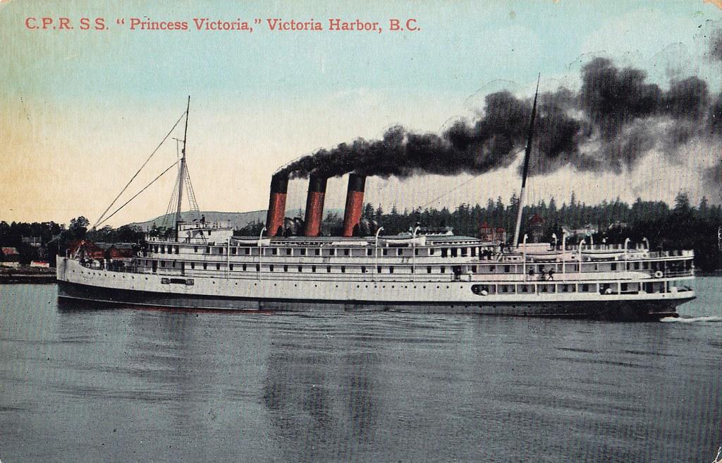 postcard  s s  princess victoria  victoria  bc  c 1910