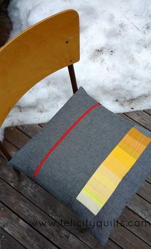 Rainbow gradient pillow back