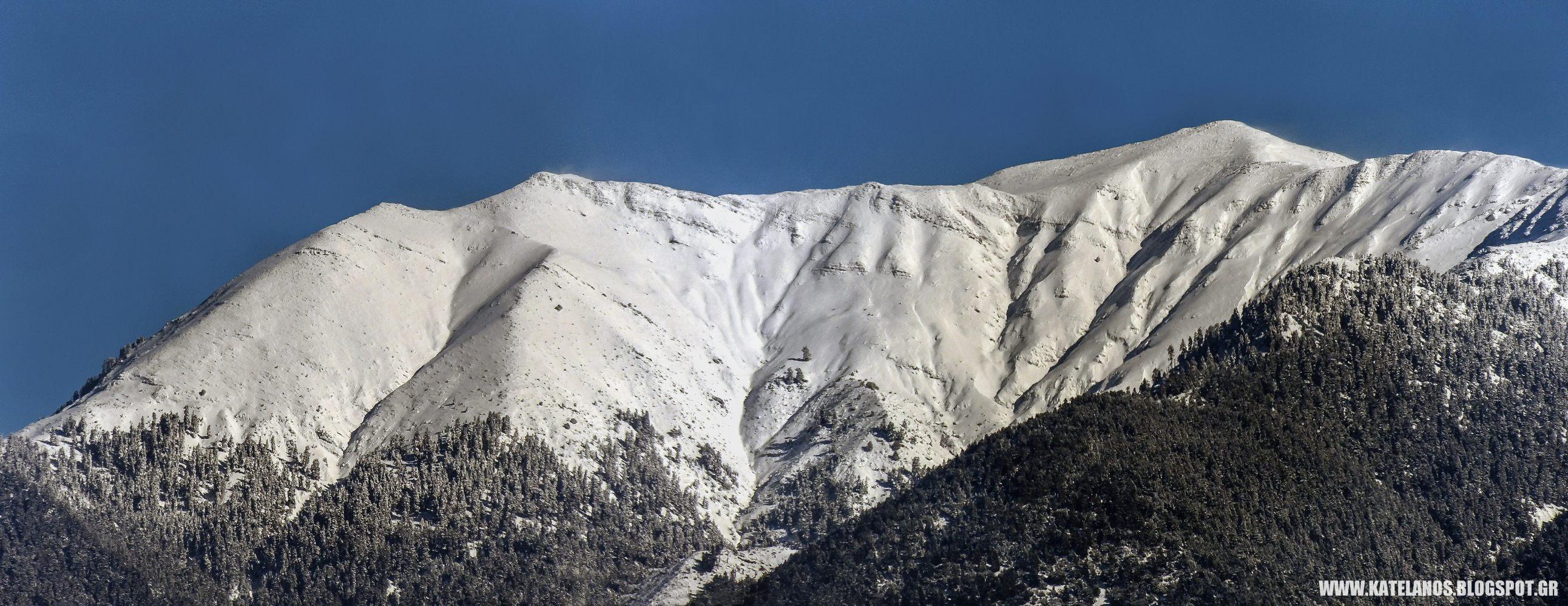 κατελανος παναιτωλικου ορους χιονια