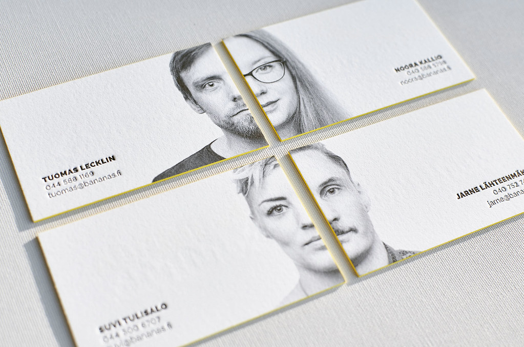 Letterpress Business Card with Portrait | Yes, we have high … | Flickr