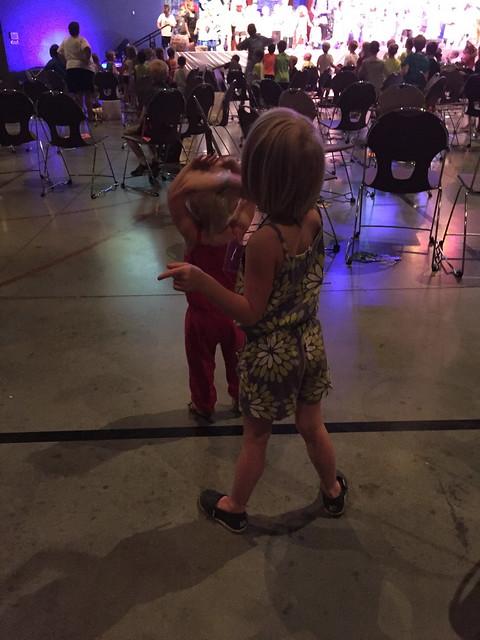 dancing at VBS