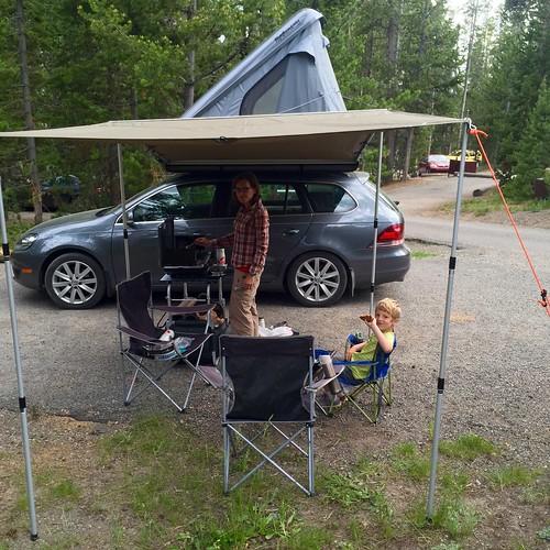 Yellowstone campsite