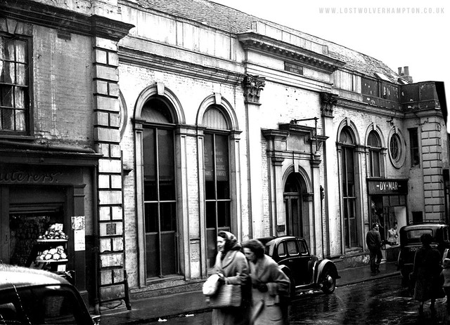 St John's Street late 1940's showing the old Grammar School Building now used for Commercial Enterprise.