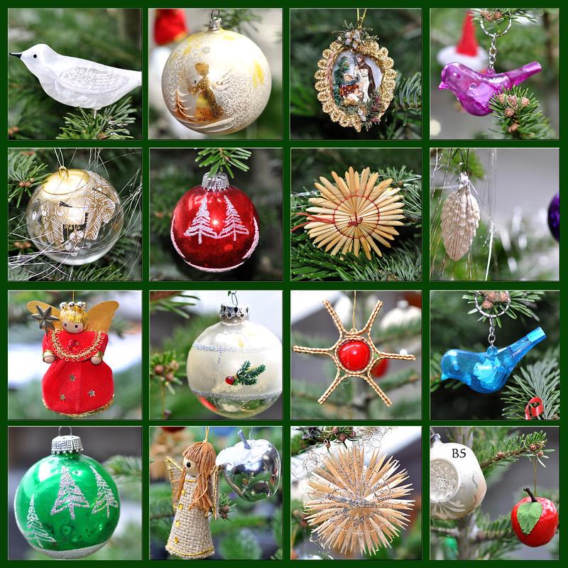 Weihnachten Weihnachtsbaum Baumschmuck Weihnachtsbaumschmuck Kugeln Strohsterne Vögel ... Fotos: Brigitte Stolle 2016