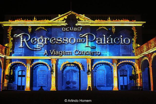 """Video mapping: """"Regresso ao Palácio –  A Viagem Concerto""""."""