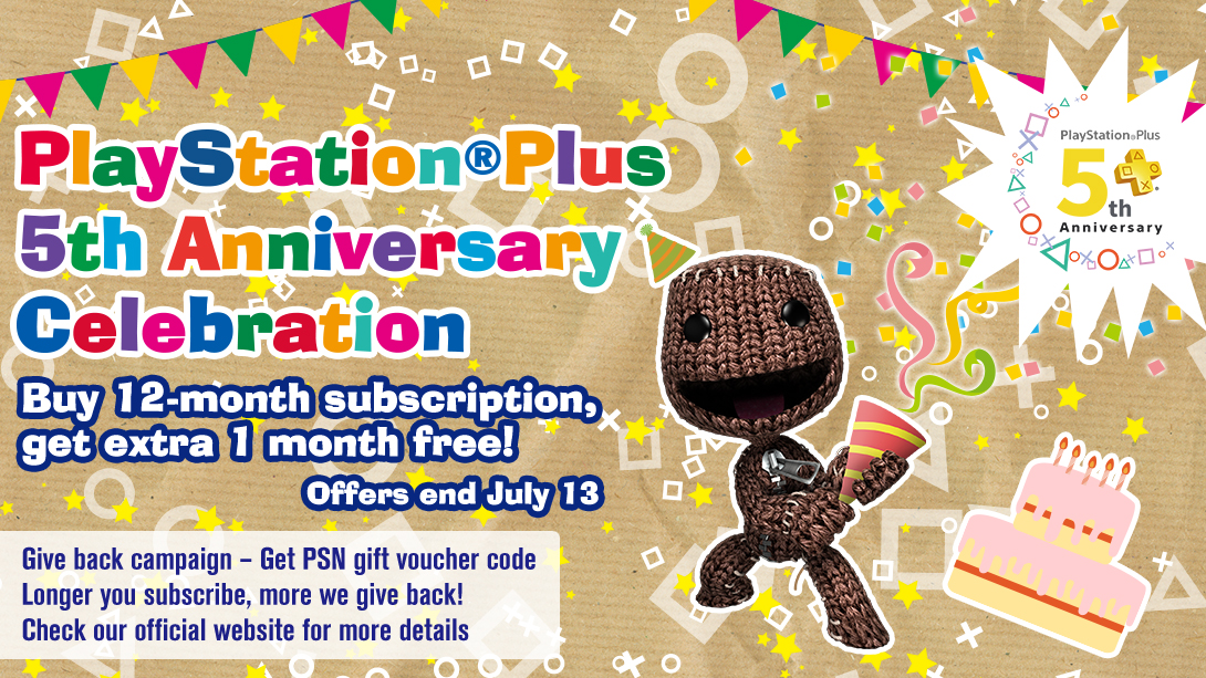 Let us Celebrate PlayStation®Plus 5th Anniversary!