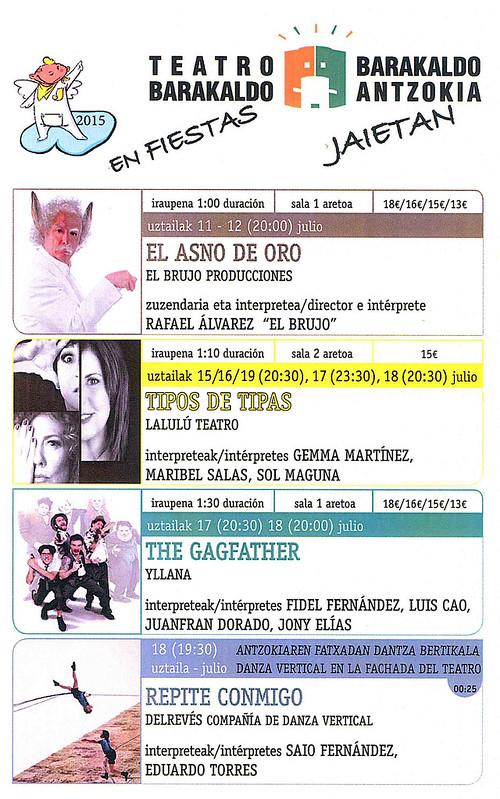 Teatro Barakaldo. Fiestas de Barakaldo 2015