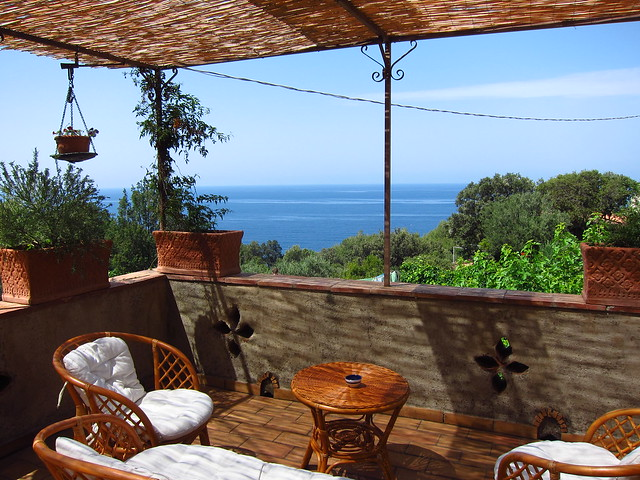 Our Private Terrace at La Torretta