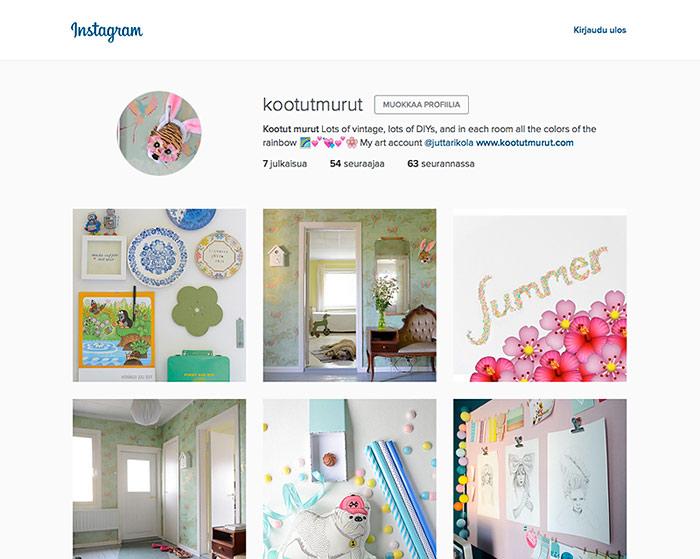 Kootut murut is now also on Instagram