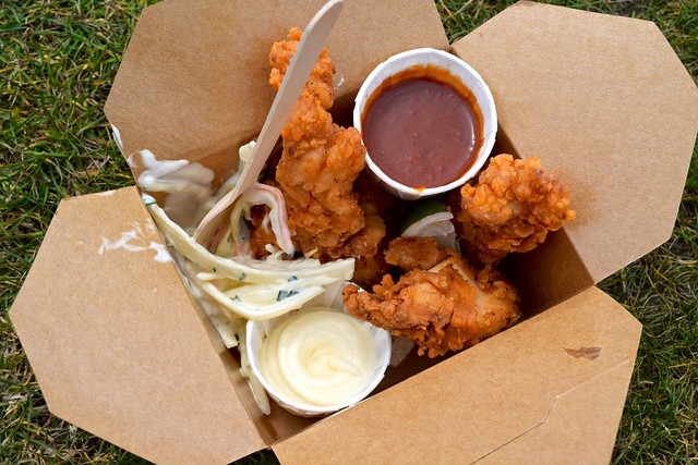 Deeson's Fried Chicken Box at Walmer Food Festival