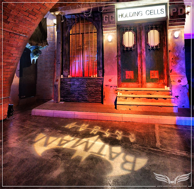 The Establishing Shot: BATMAN: ARKHAM KNIGHT CAPE & COWL EXHIBITION - GOTHAM CITY HOLDING CELLS & HAYDEN CAVE BY HAYDEN KAYS -   KACHETTE, LONDON