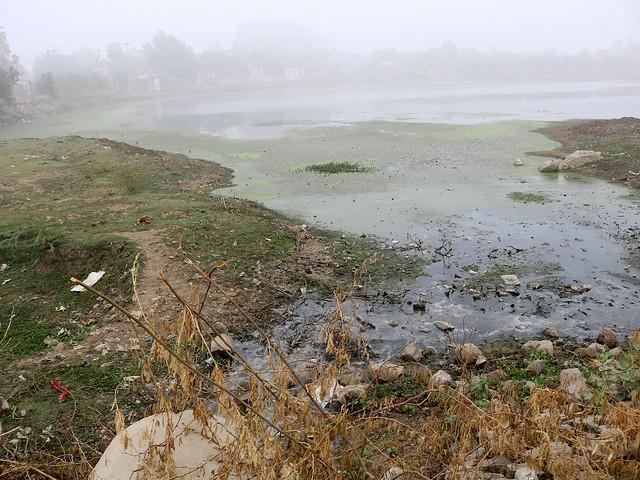 सीता सागर में नाले के जरिए जाता गन्दा पानी