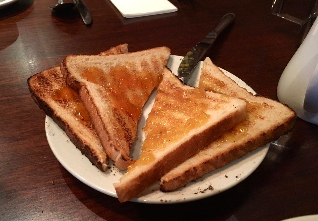 Breakfast at Worsley Park Marriott Hotel - toast