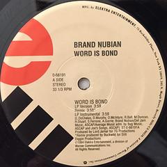 BRAND NUBIAN:WORD IS BOND(LABEL SIDE-A)