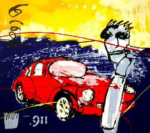 Porsche 911 A Lithograph By Herman Brood Simon37 Flickr