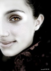 yellow eyes little smile | by dark.lightx
