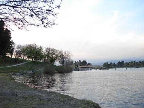 Lone man fishing taken at puddingstone lake in san dimas for Puddingstone lake fishing